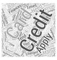 applyforacreditcard Word Cloud Concept vector image vector image