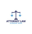 attorney law scale logo icon template vector image