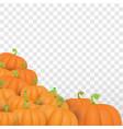 Autumn orange pumpkins border design
