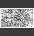 berlin germany city map in black and white color vector image