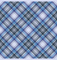 blue tartan check plaid fabric seamless pattern vector image