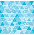 bright blue winter triangle pattern vector image