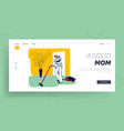 busy mother houseworking landing page template vector image vector image