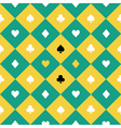 Card Suits Yellow Green Chess Board Diamond vector image vector image