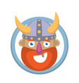 cartoon head of a viking vector image