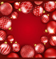 christmas background with shining colorful balls vector image vector image