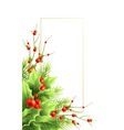 christmas greeting card template with text vector image