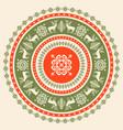 circular christmas pattern vector image