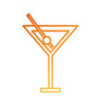 cocktail in glass cup liquor alcohol vector image vector image