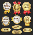 collection golden badges and labels retro vector image
