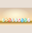 collection of easter eggs decoration of spring vector image