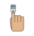 colored pulse oximeter finger simple medicine vector image