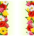 Colorful Flower Border vector image vector image