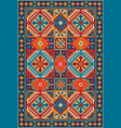 colorful oriental carpet with tribal geometric vector image vector image