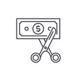 cost optimization line icon concept cost vector image vector image