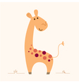 Cute Giraffe character for baby room vector image vector image