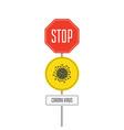 danger virus road sign vector image vector image
