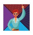 disco man cartoon vector image