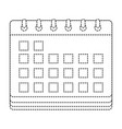 dotted shape calendar to date information event vector image vector image