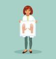 female dermatologist vector image vector image