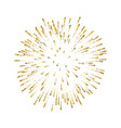 firework gold isolated beautiful golden salute on vector image vector image