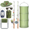 fishing accessories vector image