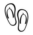 flip flop shoe icon vector image vector image