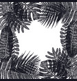 frame of tropical palm leaves hand drawing vector image vector image