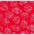 Gift box seamless gift box pattern vector image vector image