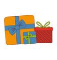 giftbox party celebration icon vector image vector image