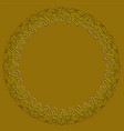 golden circle frame on dark golden background vector image vector image