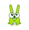 Green rabbit sign vector image