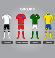 group f team jersey vector image vector image