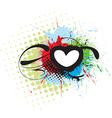 grunge heart background vector image