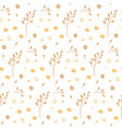 hand drawn seamless pattern oat grains flakes vector image