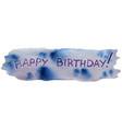 happy birthday watercolor banner vector image vector image