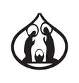 Holy family Christian silhouette icon on white vector image vector image