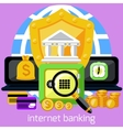 Internet banking and security deposit concept vector image vector image