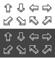 isometric arrow line icon set vector image