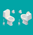 isometric toilet equipment collection for interior vector image