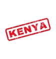 Kenya Text Rubber Stamp