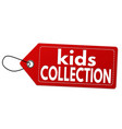 kids collection label or price tag vector image vector image