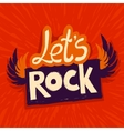 lets rock poster vector image