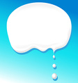 milk bubble for text vector image