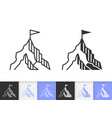 mountain simple black line peak mount icon vector image