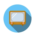 Old TV icon flat style vector image vector image