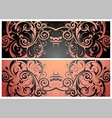 Ornament banner vector image