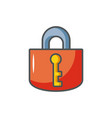 padlock key protection safety fill vector image