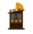 pizza street food vendor booth stand or pizzeria vector image