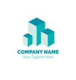 real estate logo design template building vector image vector image